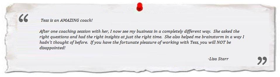 testimonial Lisa Starr